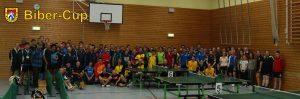 Gruppenbild des Biber-Cup 2017 mit allen Teilnehmern und Teilnehmerinnen